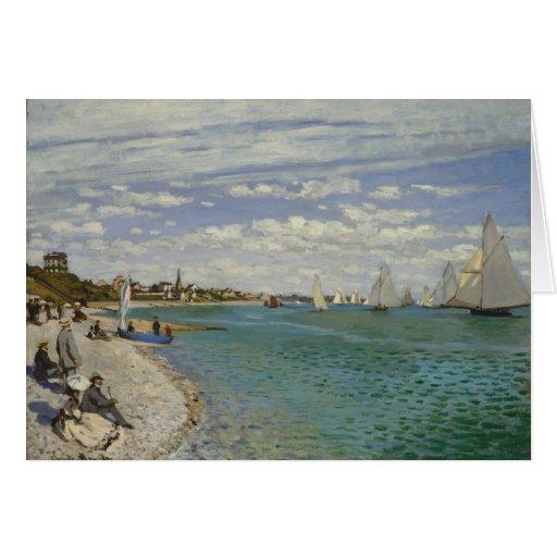 Regatta en Sainte-Adresse - Claude Monet Tarjeta De Felicitación