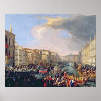 Regatta Held in Honour of Frederick VI of Denmark Print