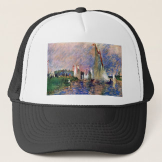 Regatta in Argenteuil by Pierre Renoir Trucker Hat