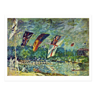 Regatta In Molesey,  By Sisley Alfred Post Cards