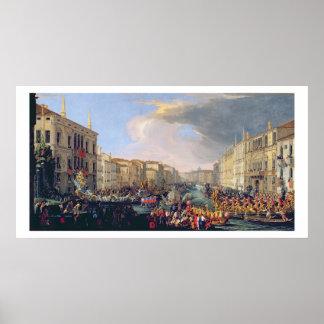 Regatta llevado a cabo en honor de Frederick VI de Poster