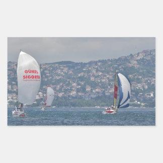 Regatta On The Bosporus Rectangular Sticker