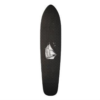 Regatta Sailboat on Carbon Fiber Style Skateboard