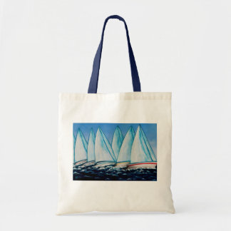 Regatta Sailing Painting by Lisa Lorenz Tote Bag