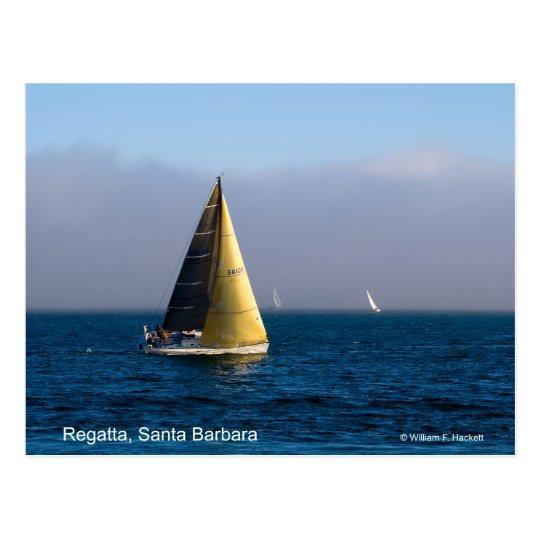 Regatta, Santa Barbara California Products Postcard