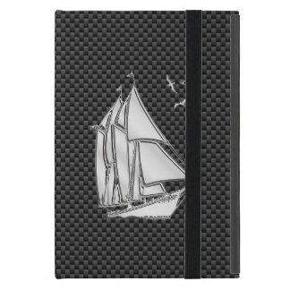 Regatta Style Sailboat on Carbon Fiber Decor iPad Mini Case