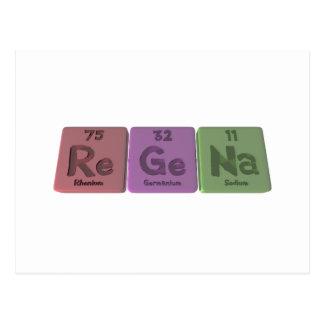 Regena  as Rhenium Germanium Sodium Postcard