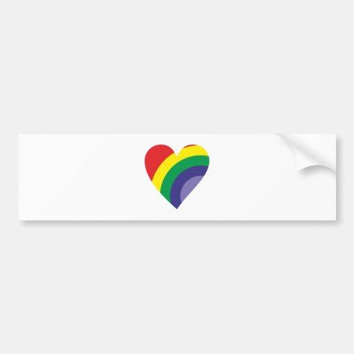 Regenbogen Herz rainbow heart Auto Sticker