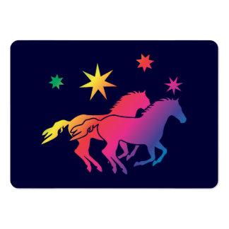 Regenbogen Pferde Paar Business Card