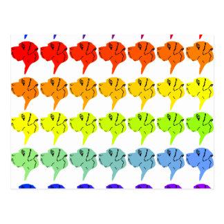 Regenbogendoggen Post Card