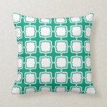 Regencia brillante del verde esmeralda de las obra almohadas