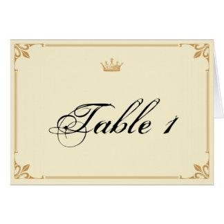 Regencia de la corona en el número de marfil de la tarjeta pequeña