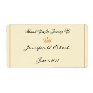 Regencia de la corona en la etiqueta de marfil de etiqueta de envío