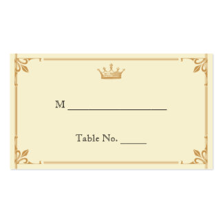 Regencia de la corona en las tarjetas de marfil tarjetas de visita