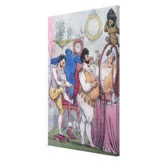 Regency a la Mode, 1812 (coloured etching) Canvas Print