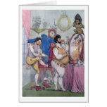 Regency a la Mode, 1812 (coloured etching) Card