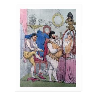 Regency a la Mode, 1812 (coloured etching) Postcard