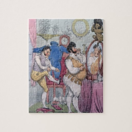 Regency a la Mode, 1812 (coloured etching) Jigsaw Puzzle
