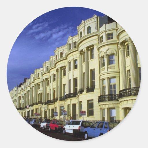 Regency architecture, Brighton, England, U.K. Classic Round Sticker