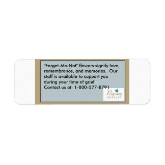 Regency Bereavement Seed Labels