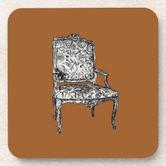 Regency chair in brown drink coaster