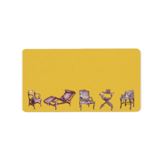 Regency chair in canary yellow label