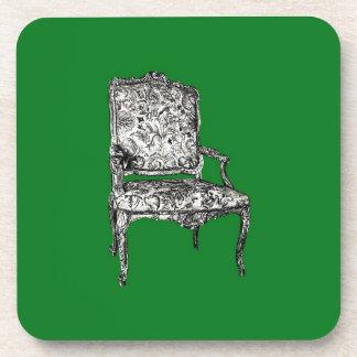 Regency chair in green coaster