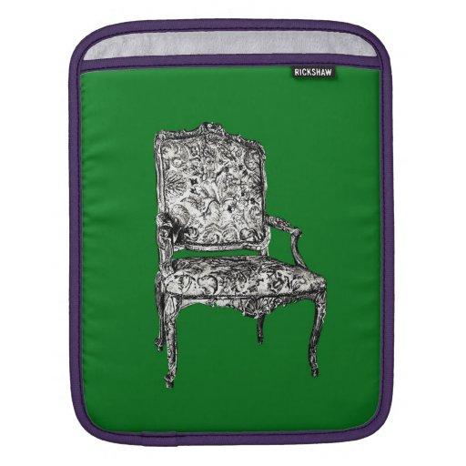 Regency chair in green iPad sleeves