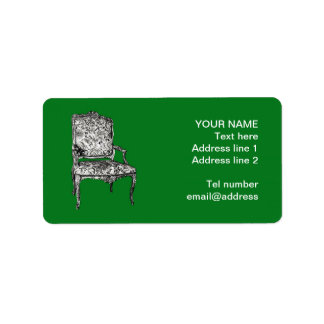 Regency chair in green label