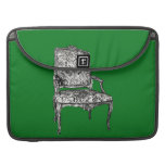 Regency chair in green sleeves for MacBooks