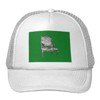 Regency chair in green trucker hat