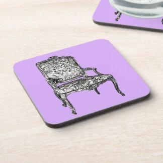 Regency chair in lavender drink coaster