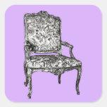 Regency chair in lavender square sticker