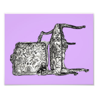 Regency chair in lilac art photo