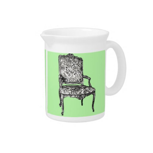 Regency chair in lime green beverage pitcher