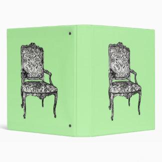 Regency chair in lime green 3 ring binder