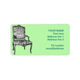 Regency chair in lime green label