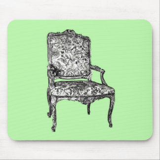 Regency chair in lime green mouse pad