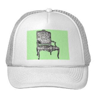 Regency chair in lime green trucker hat