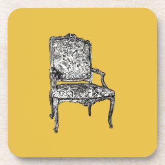 Regency chair in mustard yellow coaster