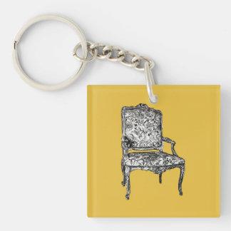 Regency chair in mustard yellow keychain