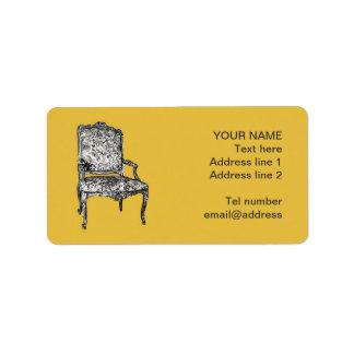 Regency chair in mustard yellow label