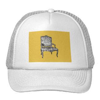 Regency chair in mustard yellow trucker hat