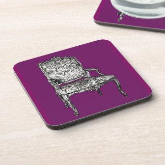 Regency chair in purple beverage coaster