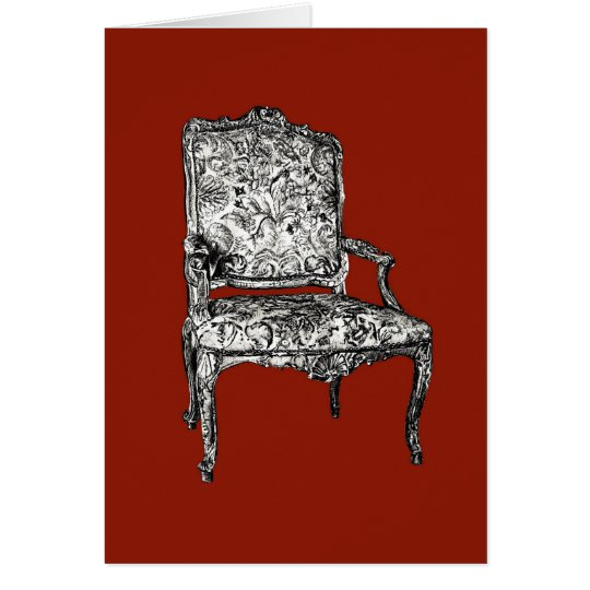Regency chair in red card