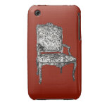 Regency chair in red Case-Mate iPhone 3 case