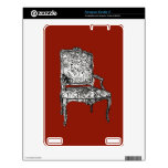 Regency chair in red decals for the kindle