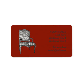 Regency chair in red label