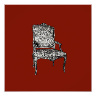 Regency chair in red poster