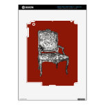 Regency chair in red skin for iPad 3